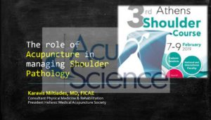 The role of Acupuncture in managing Shoulder Pathology