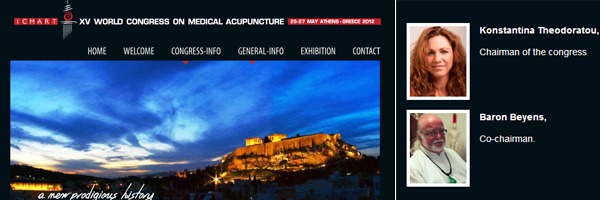 ICMART 2012 - XV World Congress on Medical Acupuncture | May 25-27, 2012 | Athens – Greece